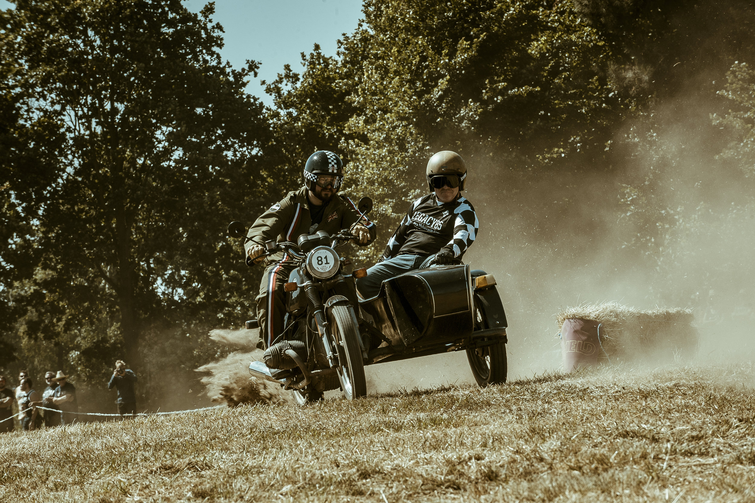 Classic bike and sidecar - Malle Mile.