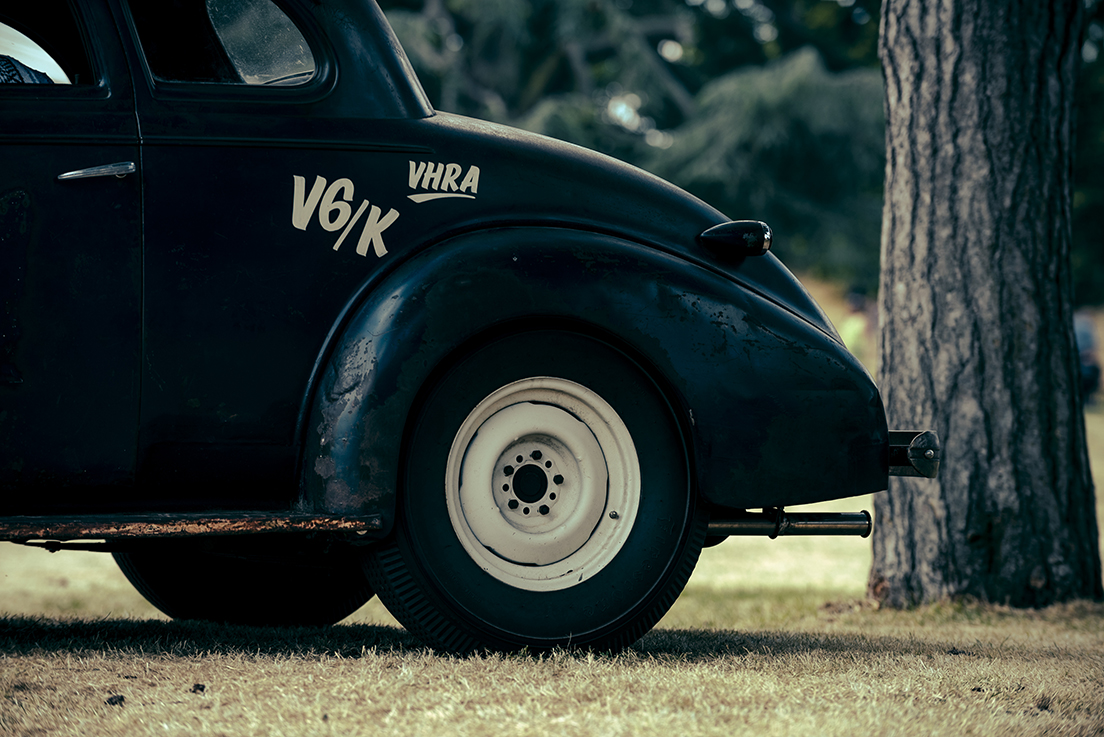 A VHRA hot road, fresh from the Pendine Sands races.