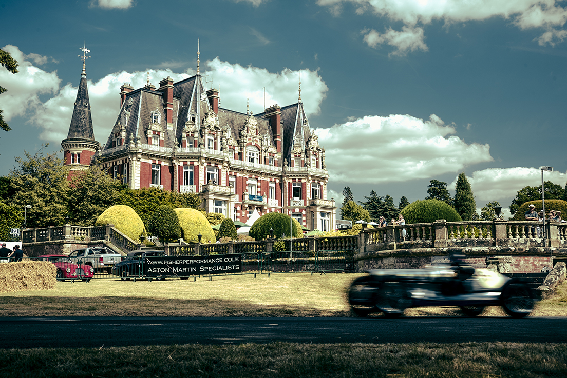 The Chateau Impney makes a photogenically historic setting for the Hill Climb.