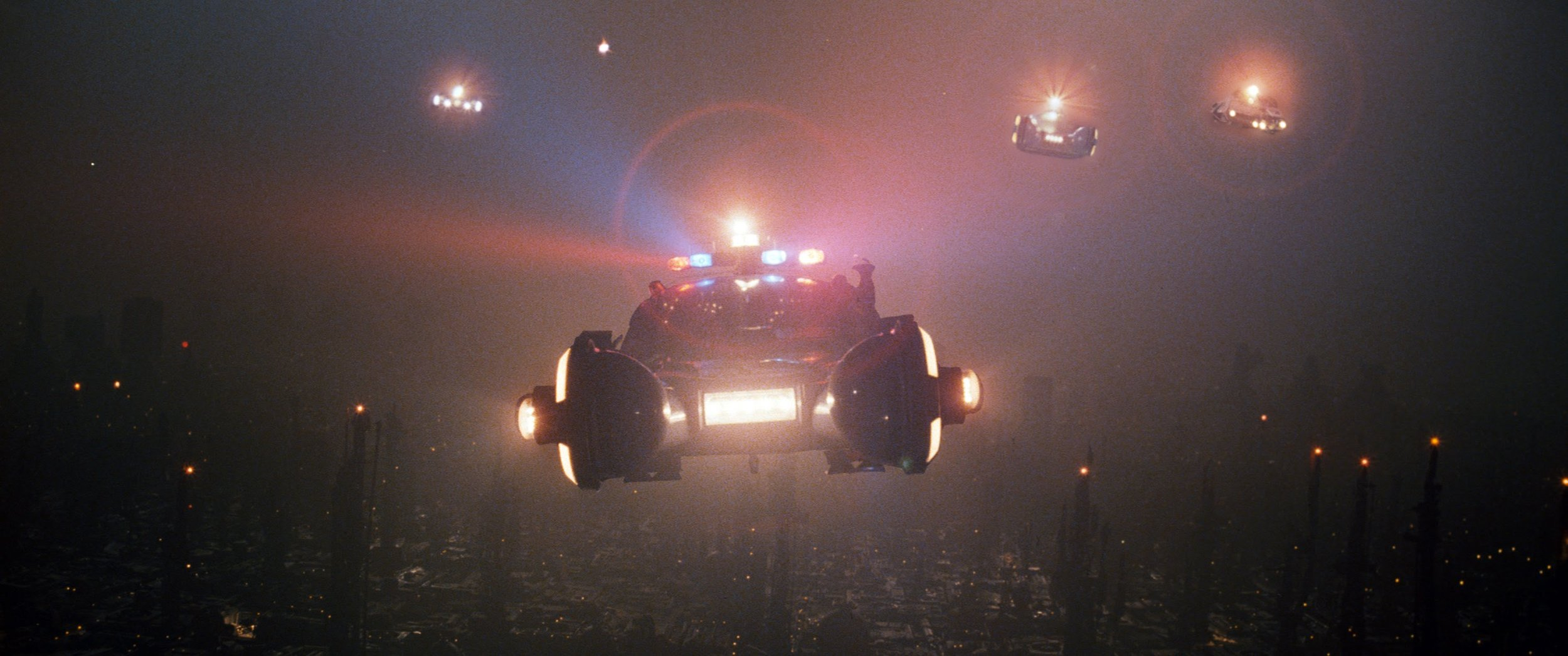 A squad of LAPD Spinners above Los Angeles.