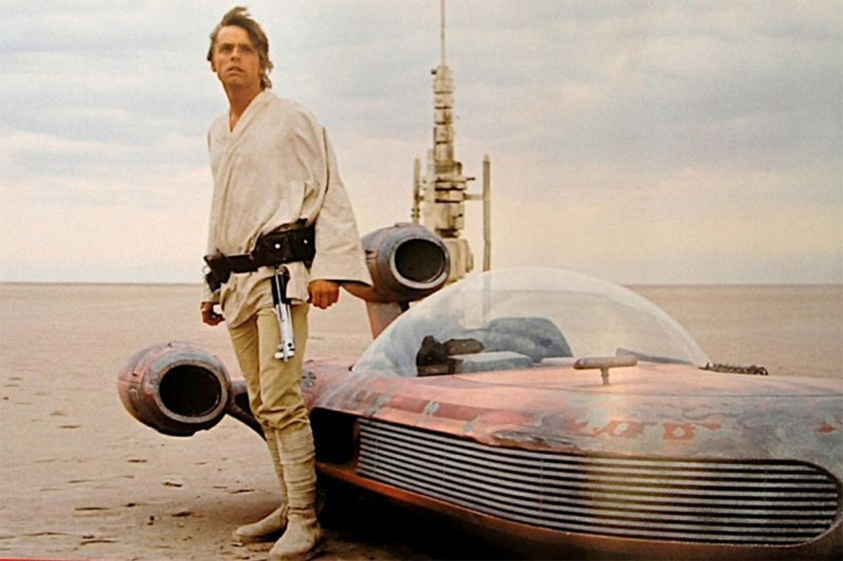 The battered but well-loved X-34 which jetted Skywalker around Tatooine for so many years.
