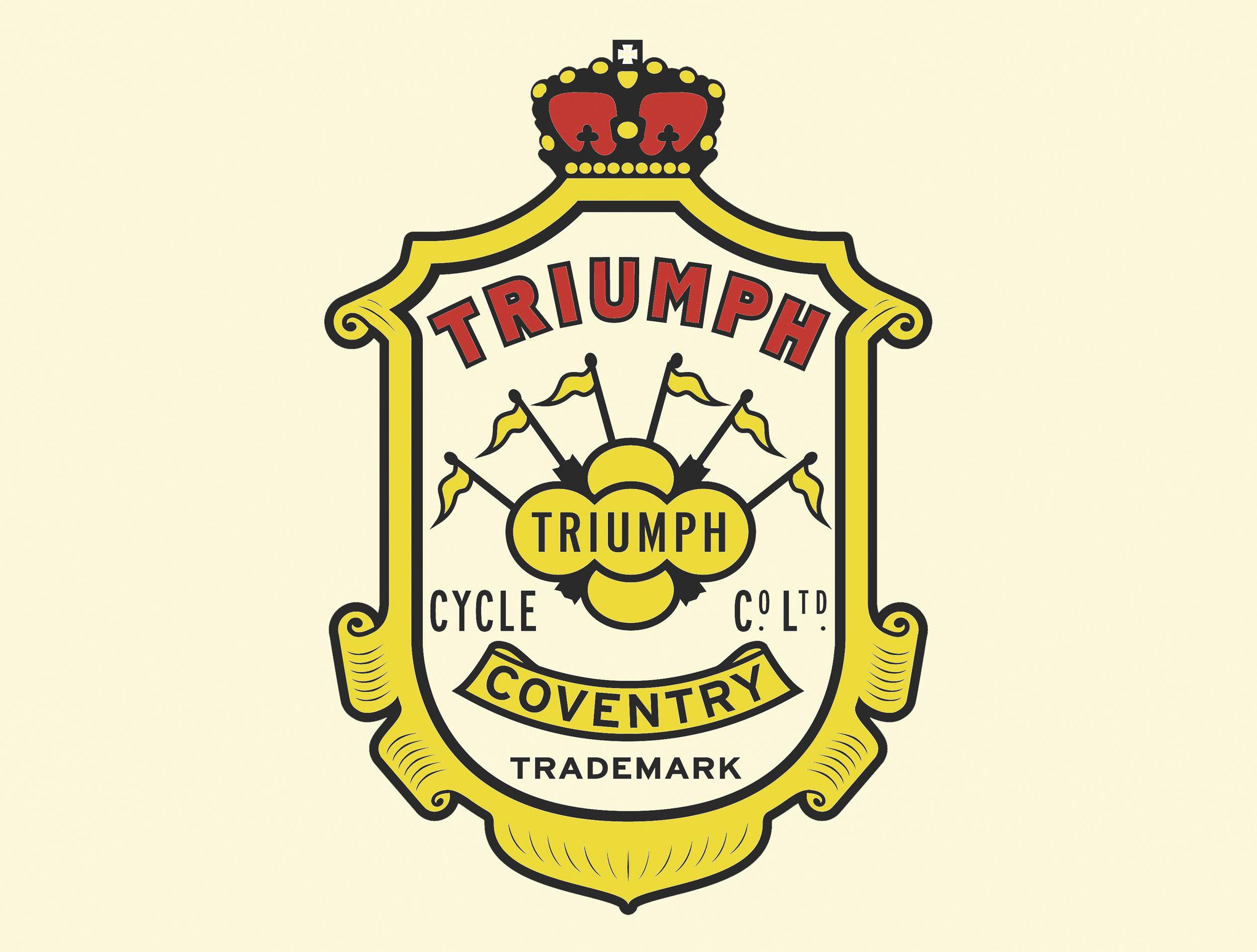The very regal 1920s Triumph logo.