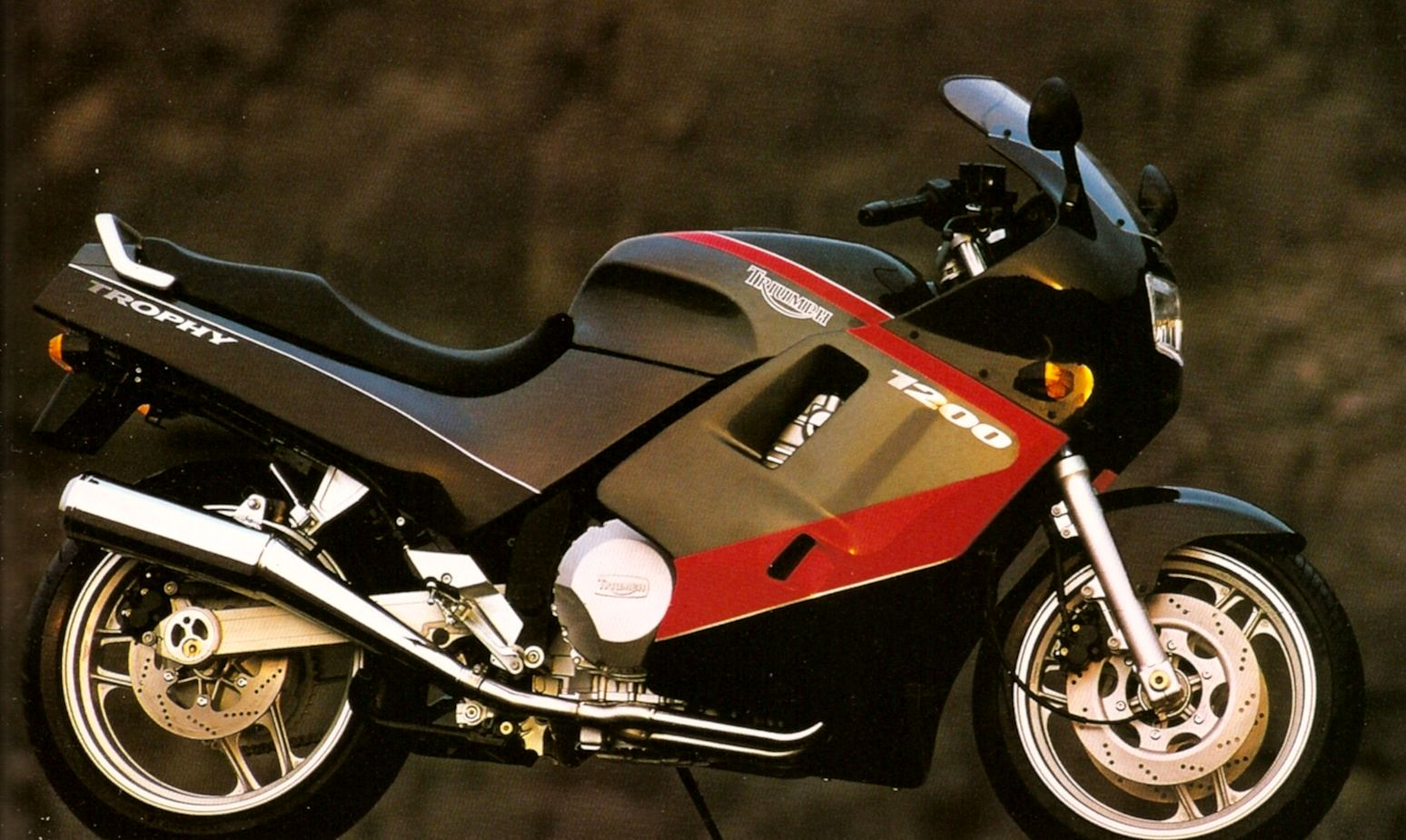 The Trophy 1200 - The face of Triumph in 1991, possibly one of the most '90s pictures going.