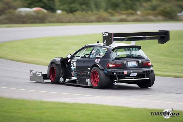 "@beastie_hatch saw its first real shakedown with proper suspension work last weekend at @gridlifeofficial Fall Battle.  2nd Place #Unlimited Class means we start 2nd in Unlimited Class points for 2020.  @codylovelandracing reports excellent #aero balance despite minimal seat time. There  was a TON of time still left in the lap, as the fast time of 1:35.759 was set while only ""confirming"" settings, and was to be ""pushed"" the next day.  Gearbox failure ended the bid for a quicker time.  Now we have the winter to sort out the gearbox.  Install and tune the #hybrid system.  Perhaps some #drs?  So many fun potentials.  #codylovelandracing #affinityaero #rpscarbon #pegasusautoracing #toyotires #spatechnique #obpmotorsport #s1built #linkecu #hrewheels #eibach #egcivic #hondaracing #liquidimageinc #downforce #aero #codybuilt  @turbotaramedia on 📷  @codylovelandracing  @speedstreetllc  @garrettmotion  @eibach_world  @pegasusautoracing  @obpmotorsport  @affinityaero  @injectordynamics  @toyotires  @link_ecu  @ktuned  @hre_wheels  @rpscarbon  @spa_technique  @coxmachine @driveshaftshop"