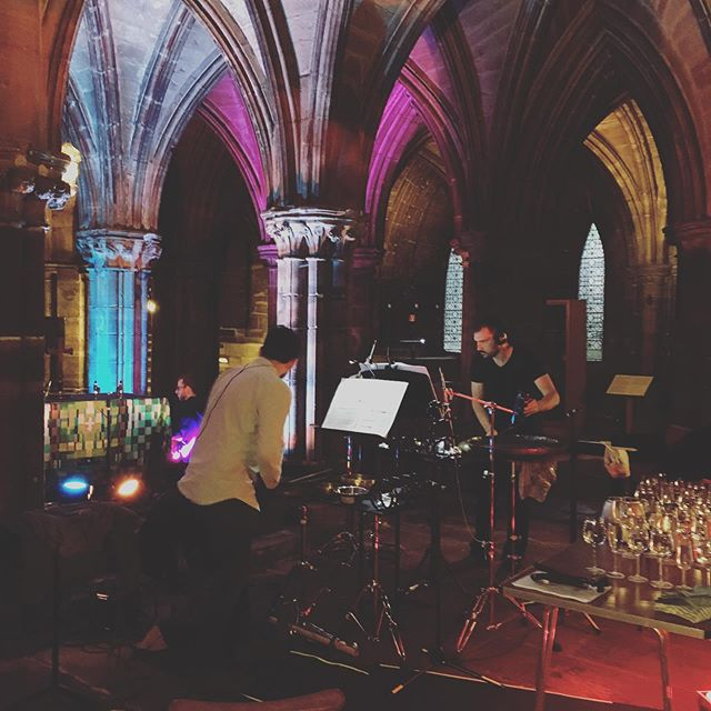 Late night quad konzert in the krypt tonight in Glasgow @glasgow_cathedral_festival