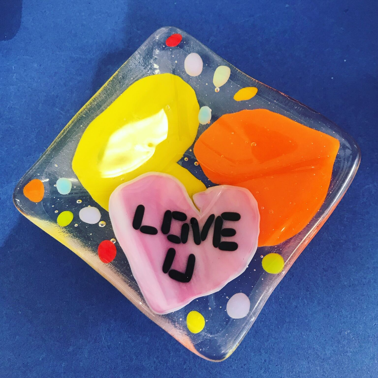 Small Dish Party - A handmade glass small dish is so fun to make! Pick black, white or clear base glass and use your imagination to make it one of a kind!