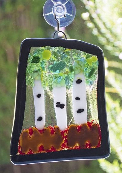 Suncatcher Party - Each kiddo will choose their own unique suncatcher shape and colored glass to decorate their one of a kind fused glass creation. Their creation will add color and fun to any window!