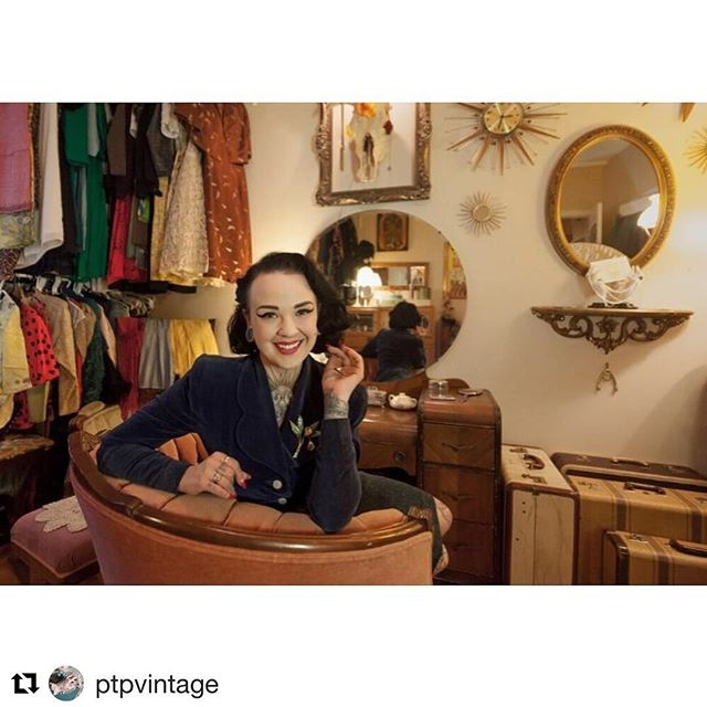 We're so excited for today's grand opening of @ptpvintage in #toronto and online. We can't wait to celebrate with @paintedladypaigeturner and #sweetdaisy  #Repost @ptpvintage with @get_repost ・・・ #alwaysalady #inmyelement #ptpvtg #ptpatelier #ptpvintage #havingaparty #may5 #paigeturnerspreservation  Thank you @russelandsohn for the amazing photo