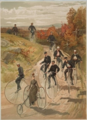 """The dictionary defines """"bicycle"""" as both a noun and a verb. (Photo courtesy of the New York Public Library Digital Collection)"""