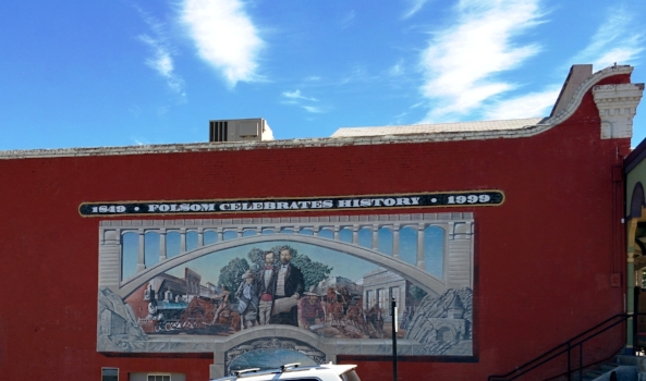 This mural serves as a landmark in the historic district of Folsom, Calif. (Photo by Vincent Fazzi, Aug. 15, 2015)