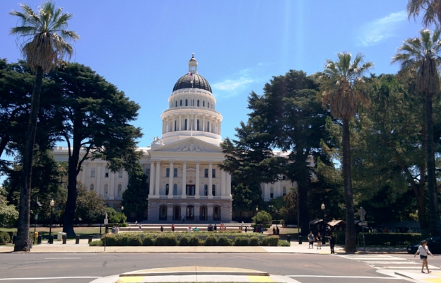 The California State Capitol in Sacramento. (Photo by Vincent Fazzi, July 2015)