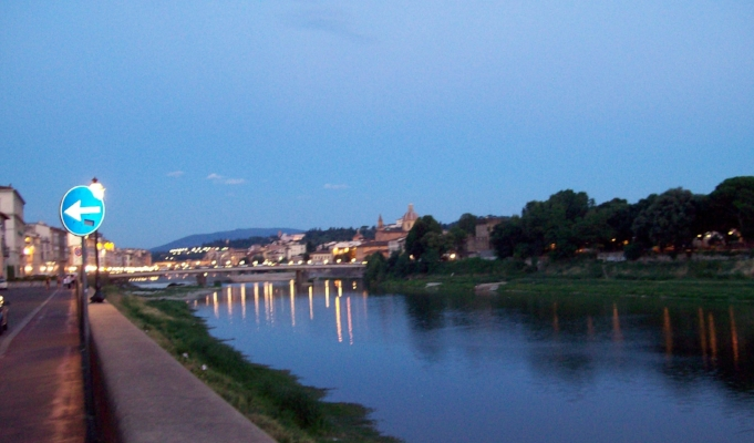 The Arno at dusk.