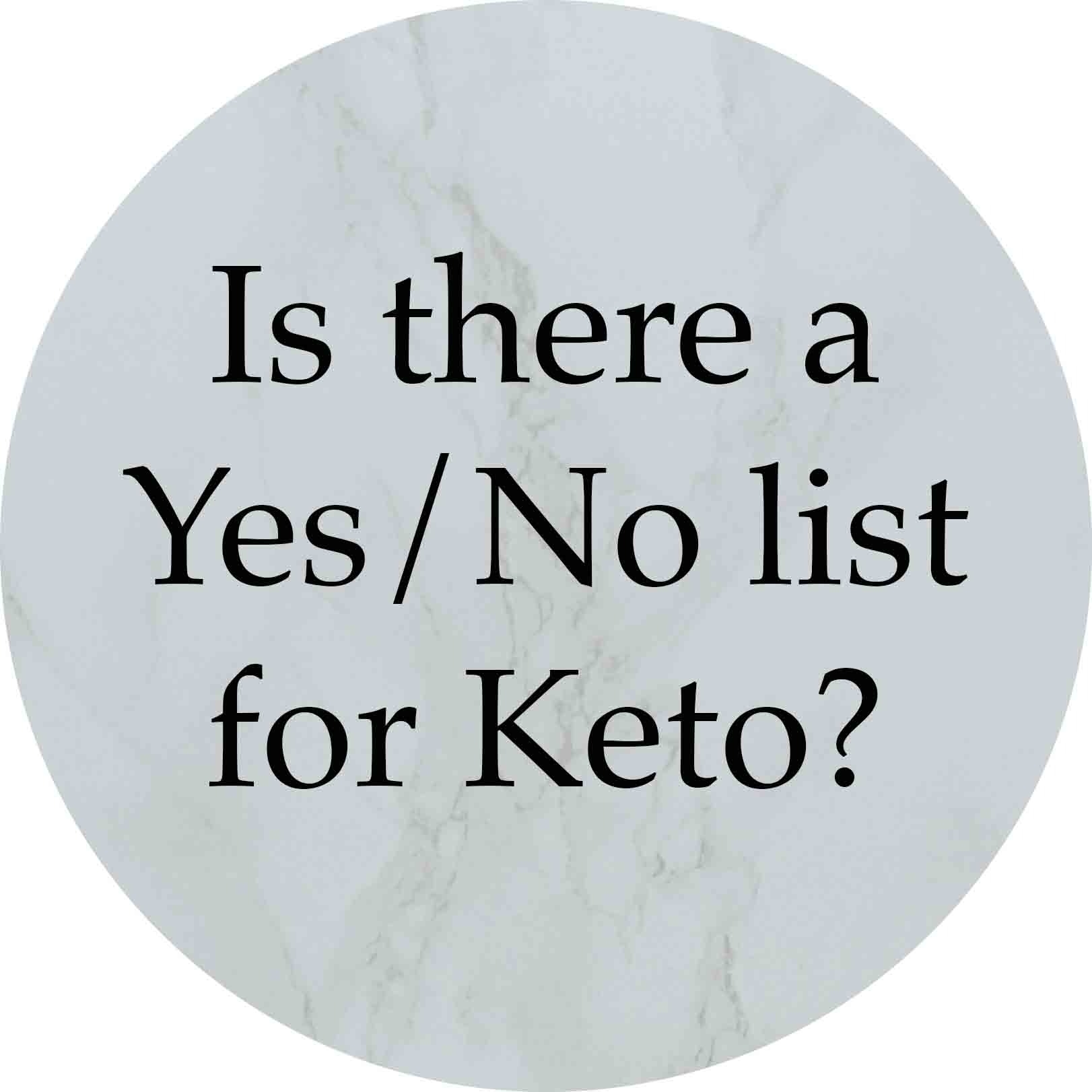Granny Keto FAQ: Is there a Yes/No list?