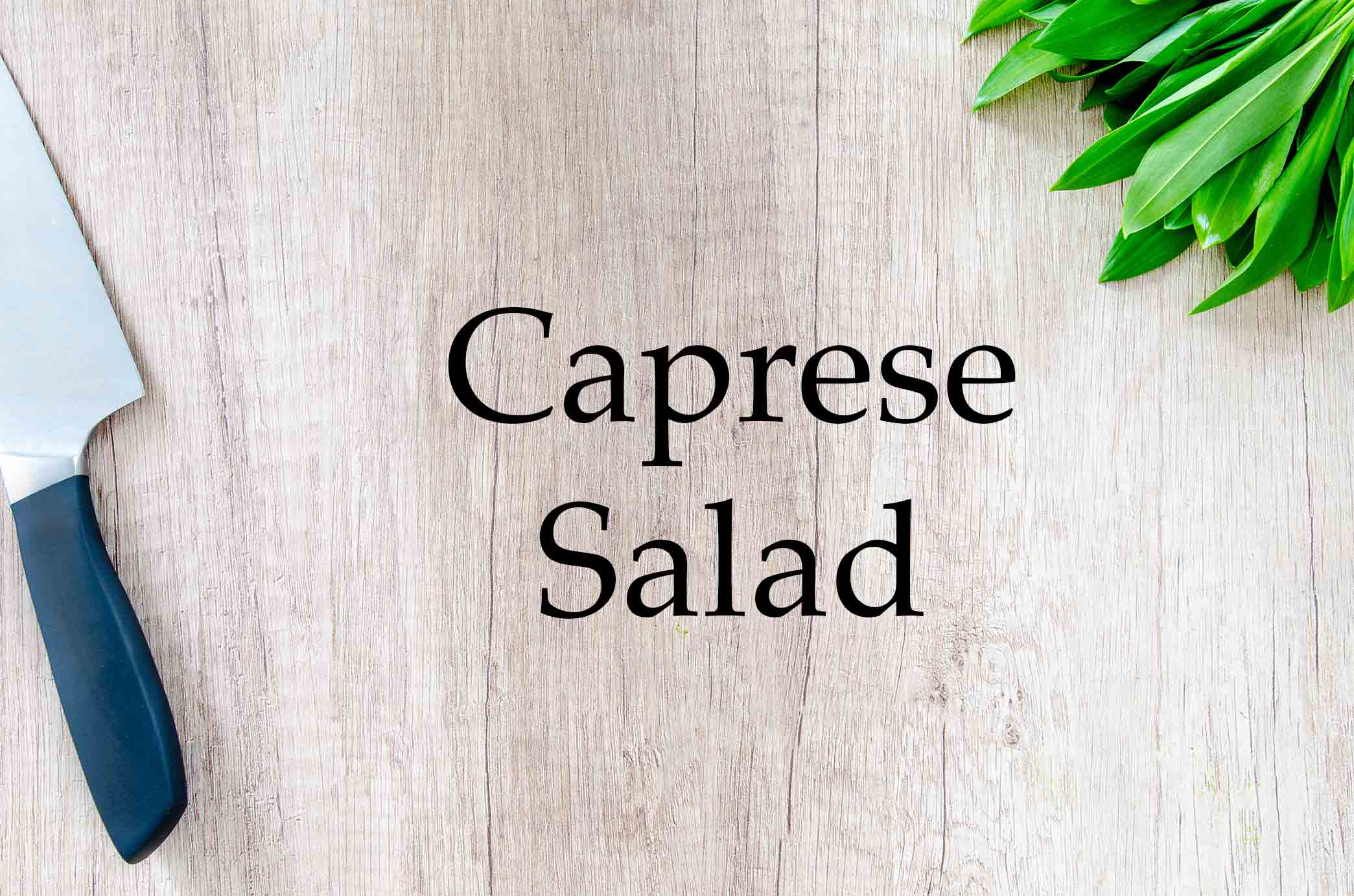 GrannyKeto.com Recipes: Caprese Salad