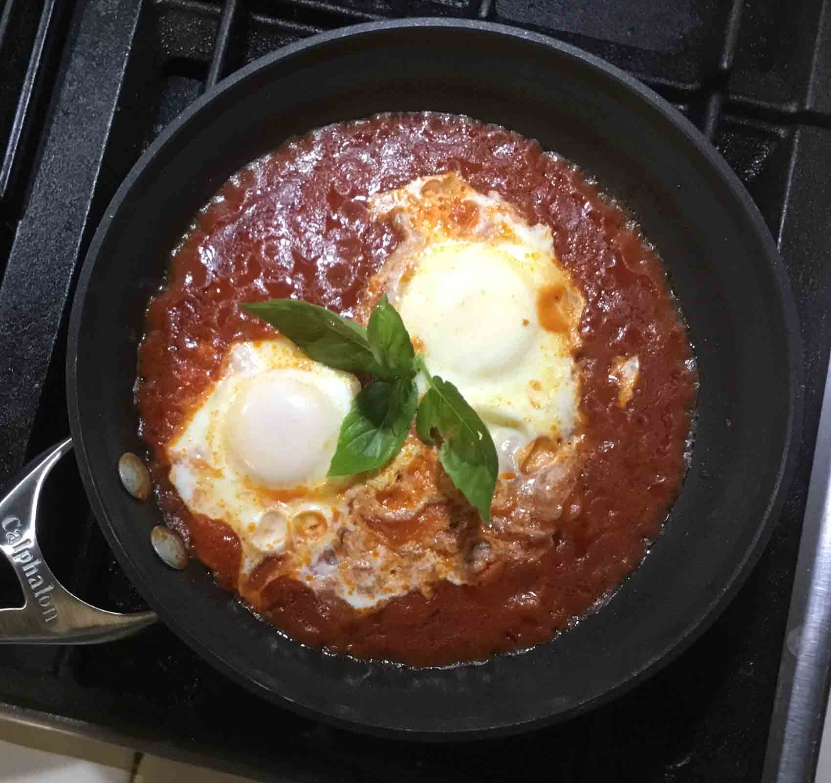 GrannyKeto.com Recipes: Shaksuka (Poached Eggs in Sauce)
