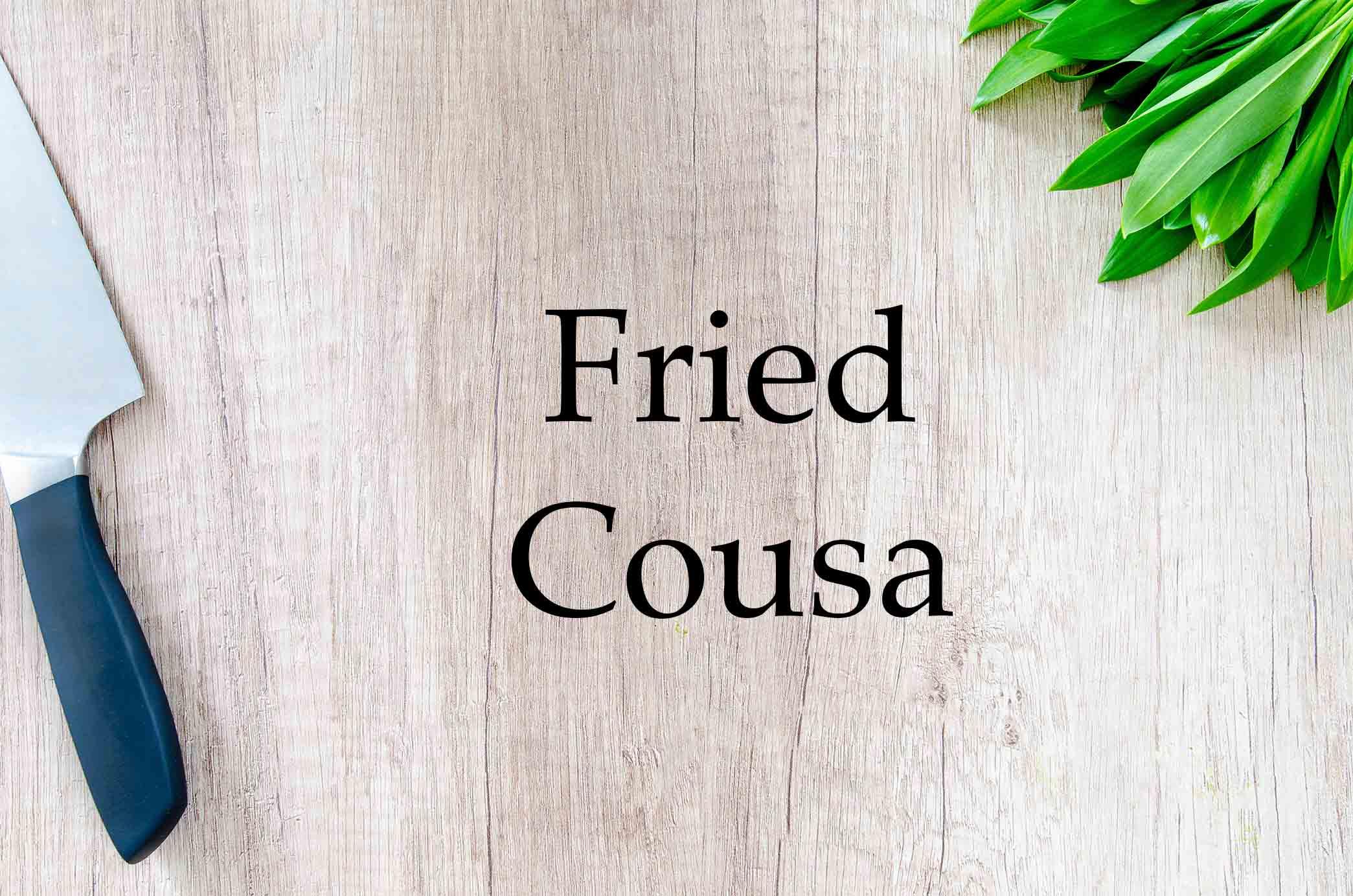GrannyKeto.com Recipes: Fried Cousa