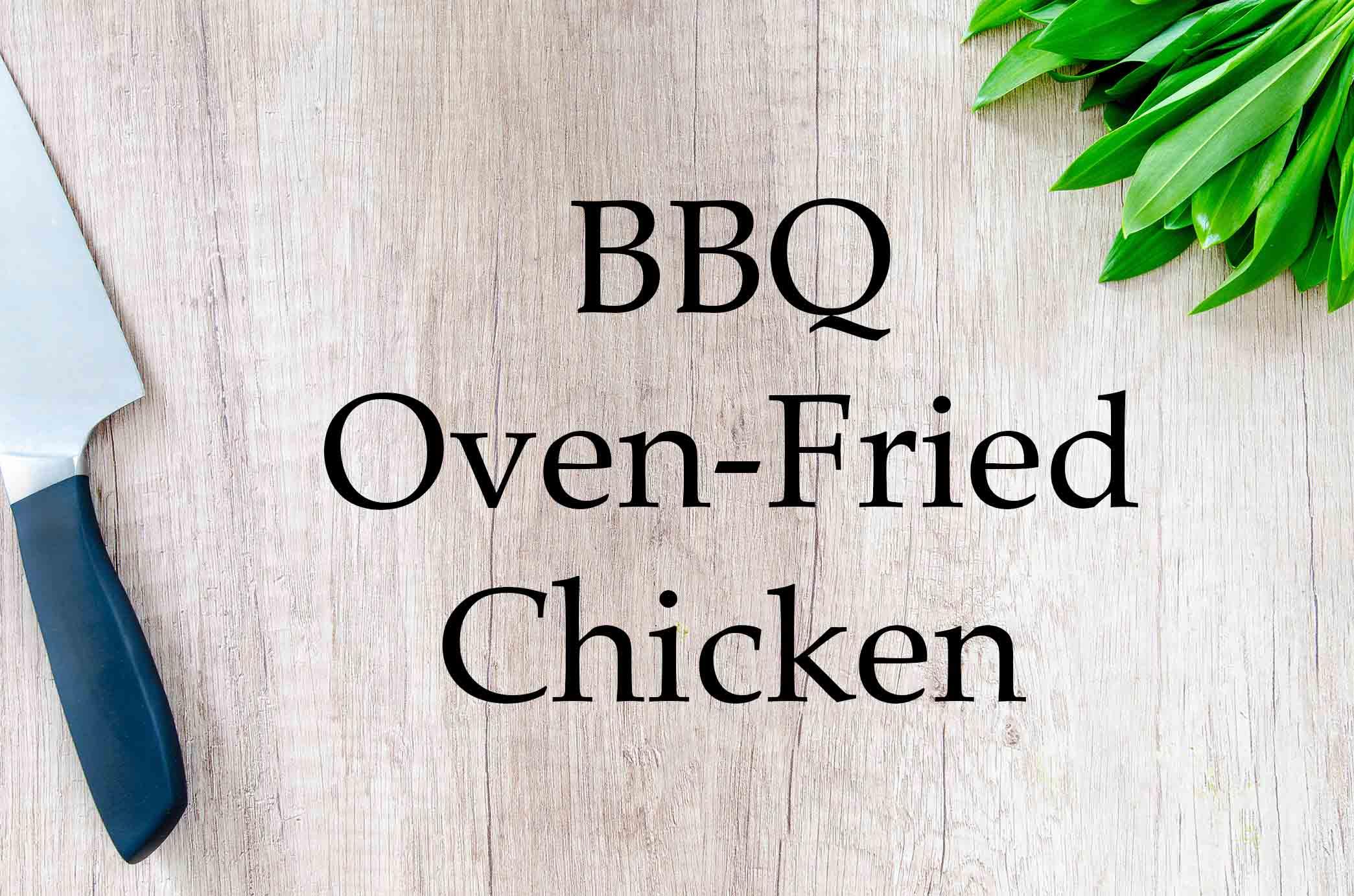 GrannyKeto.com Recipes: BBQ Oven-Fried Chicken
