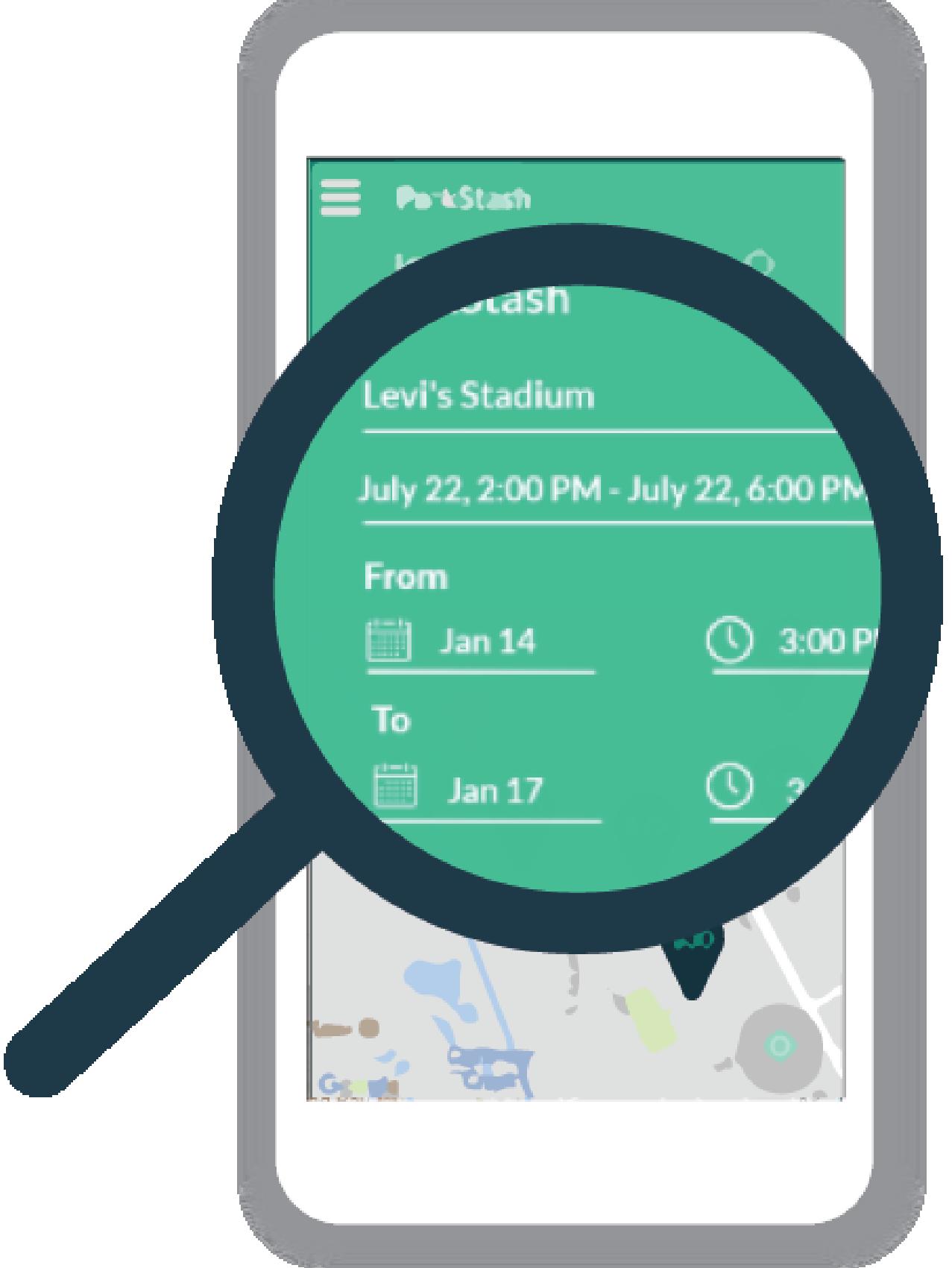 Search for parking spots on ParkStash app