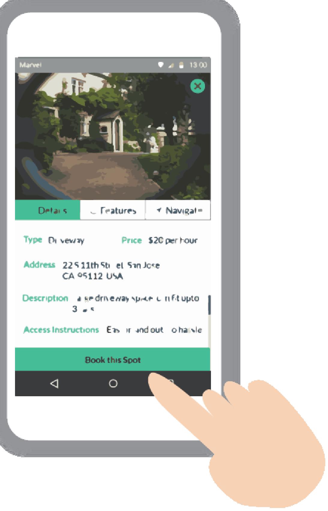 Book your parking spot on ParkStash app