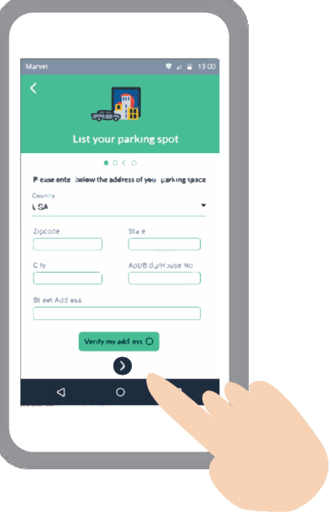 List your parking spot on ParkStash app