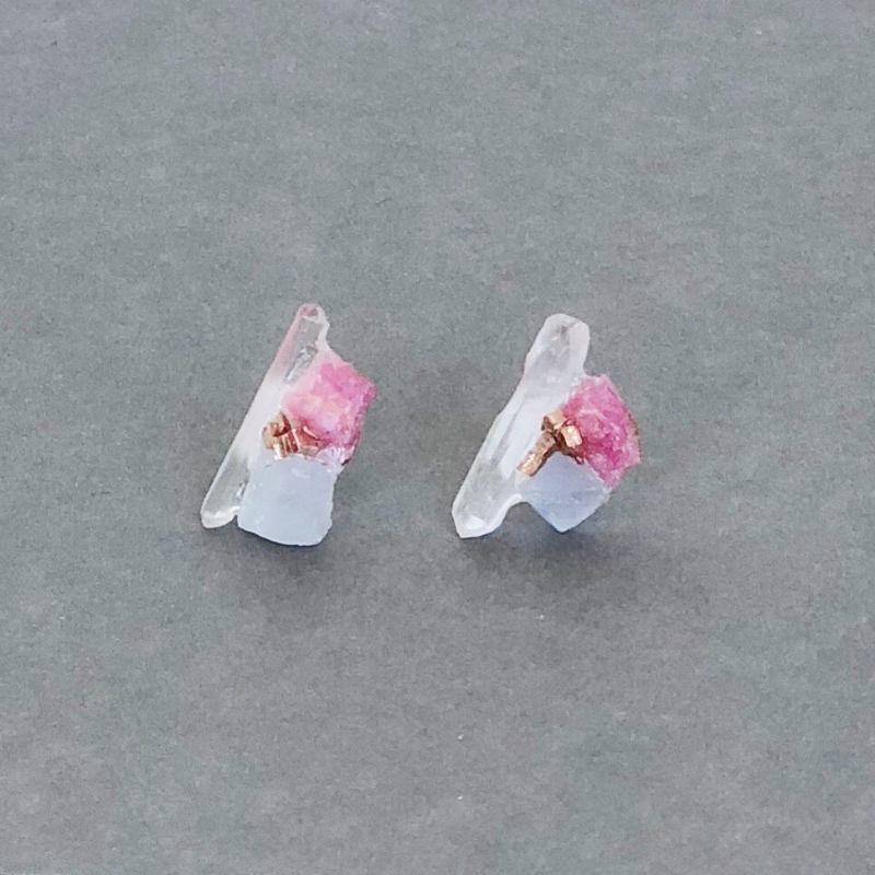 Quartz Cluster Stud Earrings by Dear Survivor