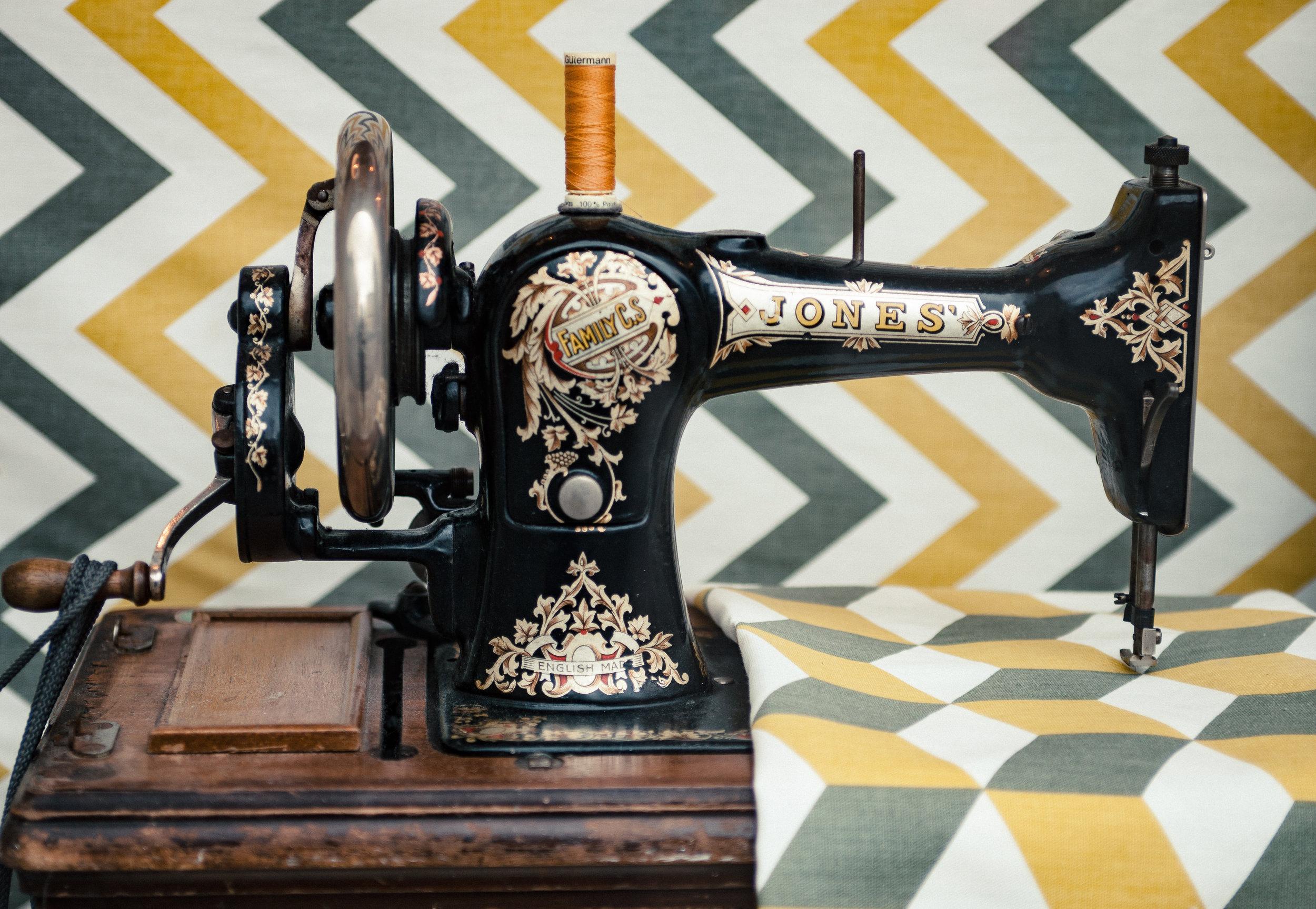 Antique Jones Sewing Machine.