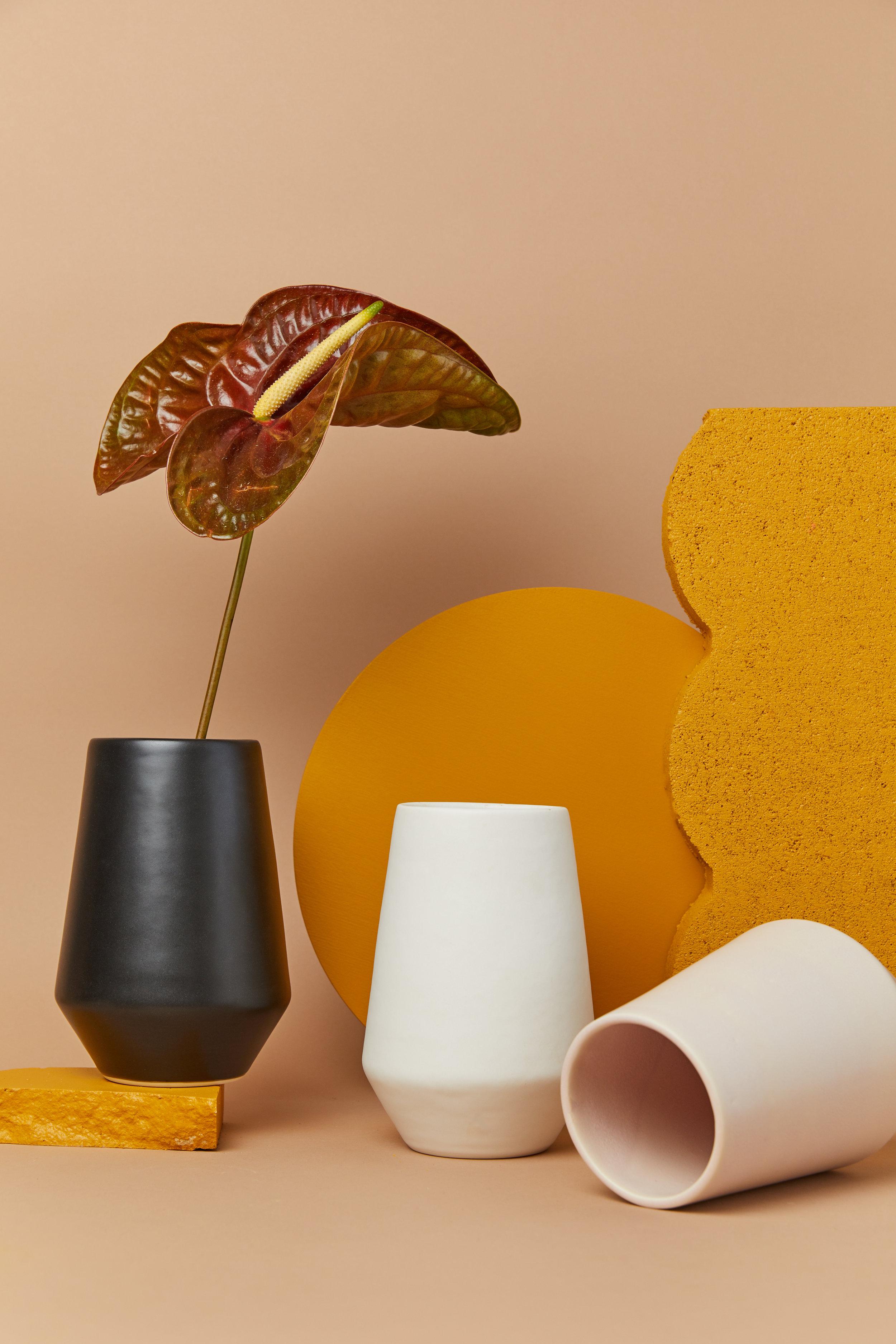 Deco planters by Amy Hamley Ceramics.