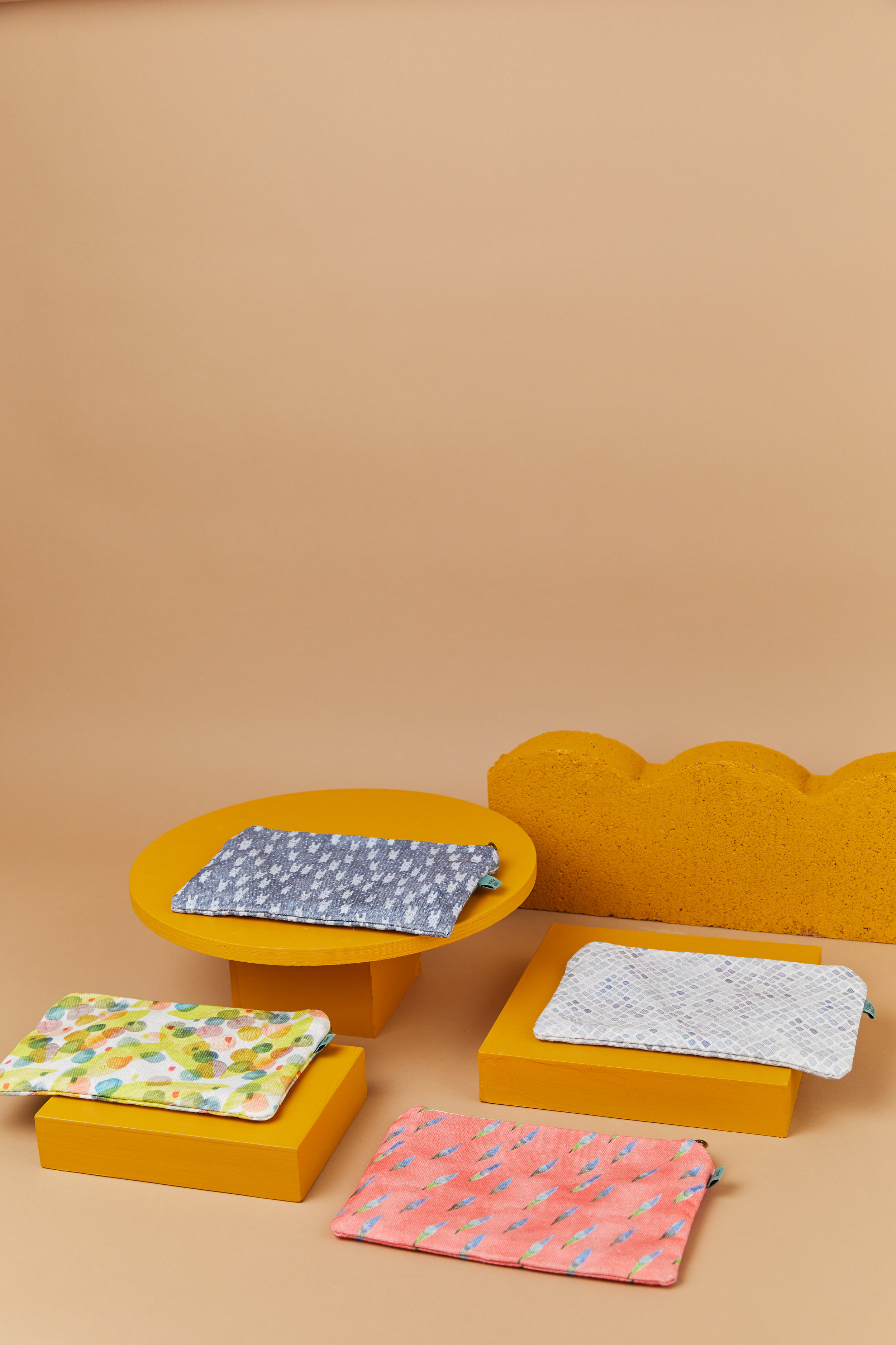 Flat pouch by Curio Wolf
