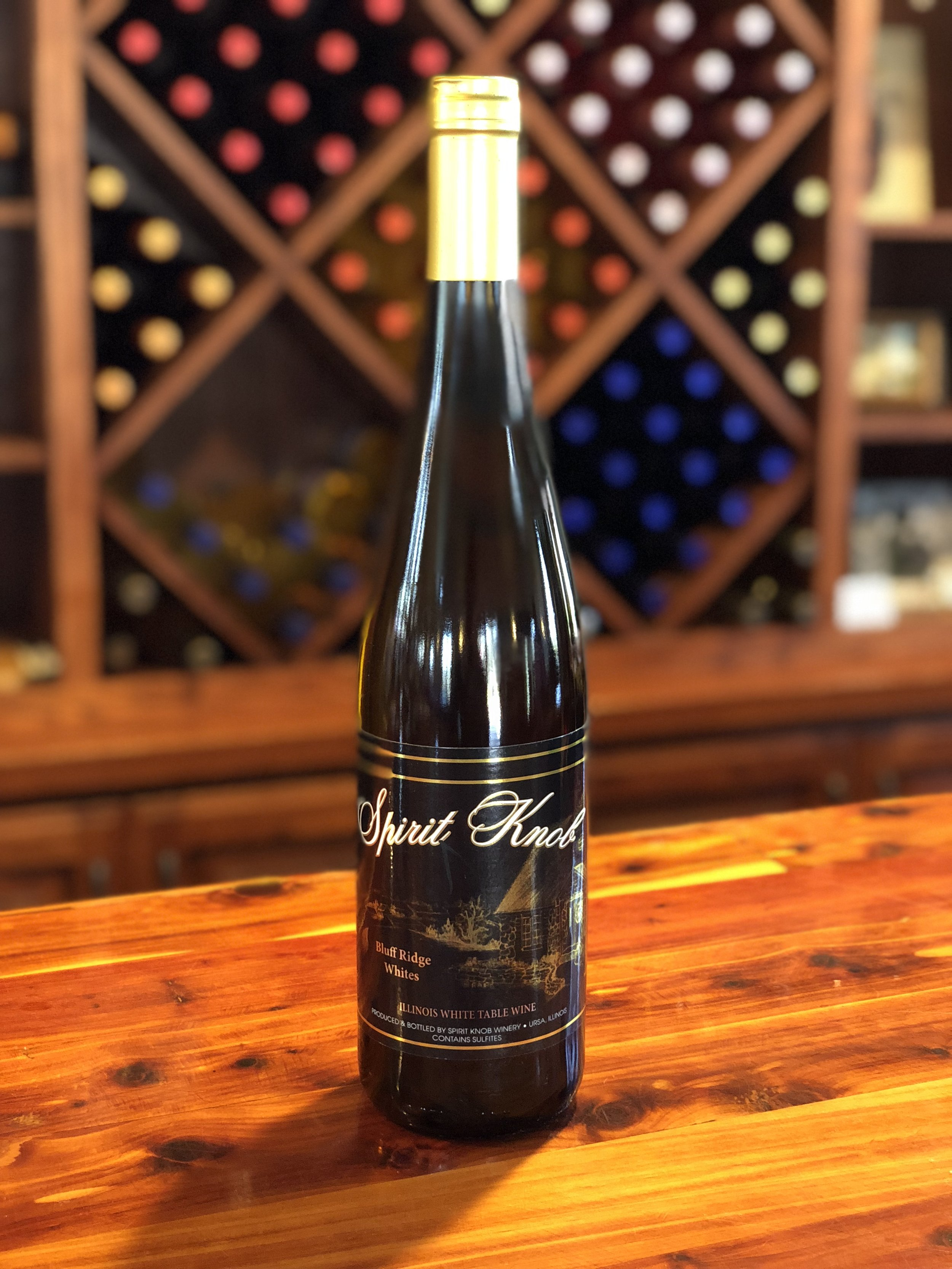 Bluff Ridge Whites - A semi-dry blend of Chardonel and Vignole , lightly oaked with hints of vanilla.Click here to buy now!