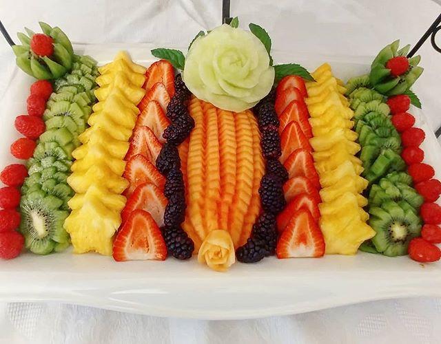 Seasonal fruit display 🍓🍍🍉💚