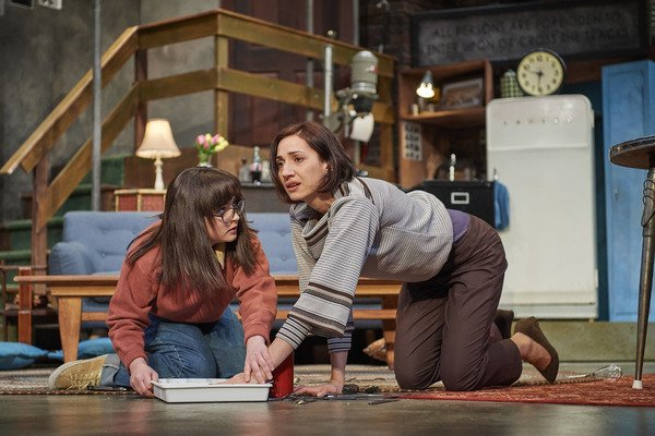 Gloria in  Wait Until Dark  at Great Lakes Theater with Jodi Dominick as Susy    (Photo: Roger Mastroianni)