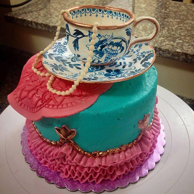 tea cup cake