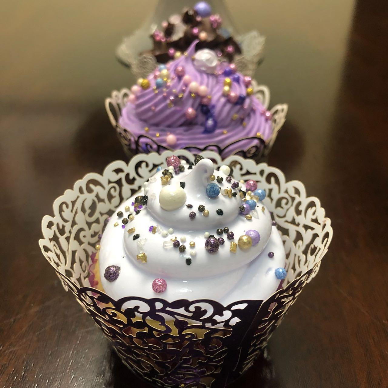 Cupcakes. Lemon Meringue Pie Cupcakes. Purple Ombre. Fluffy Frosting. Sprinkles. Wedding Cupcakes.