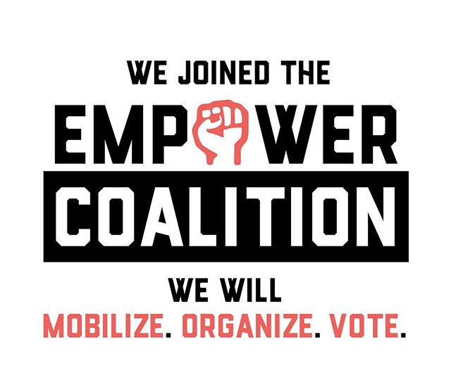 — posted earlier —- The success of social movements is because of the voice of our youth. Today, we partner with the Empower Coalition. As allies, the #EmpowerCoalition works towards empowering the youth movement across the country. We are 55 national and grassroots organizations rallying together our collective strengths and resources in service to youth as they power to the polls for the midterms. #youthempower #empower #youthmovement