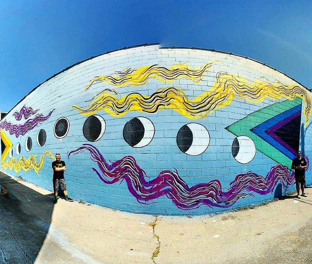 Phybr + BonusSaves = SignUsAllDay Mural Located at Sutherlin Optical
