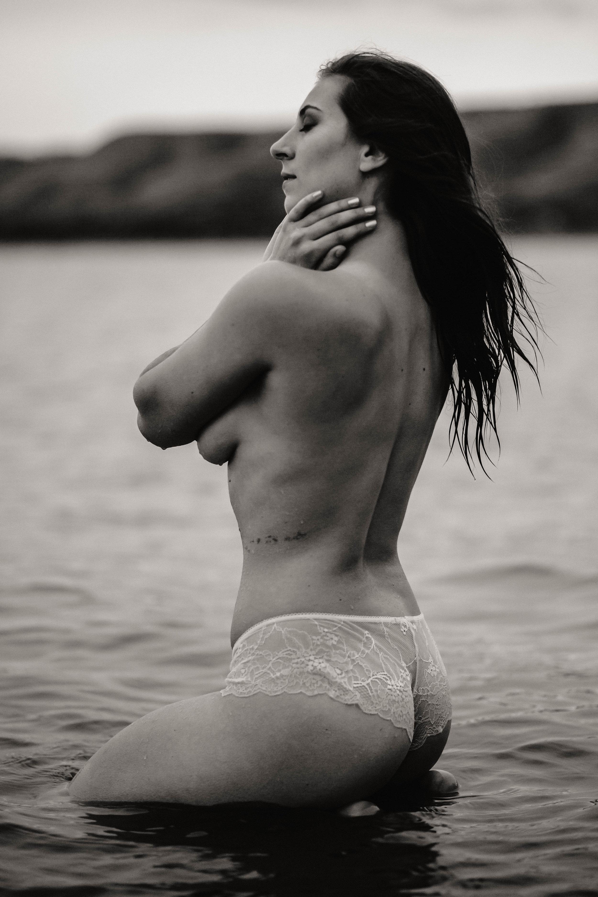 Boudoir bridal Saskatchewan Estevan Carlyle regina weyburn photographer photography outdoor water lake