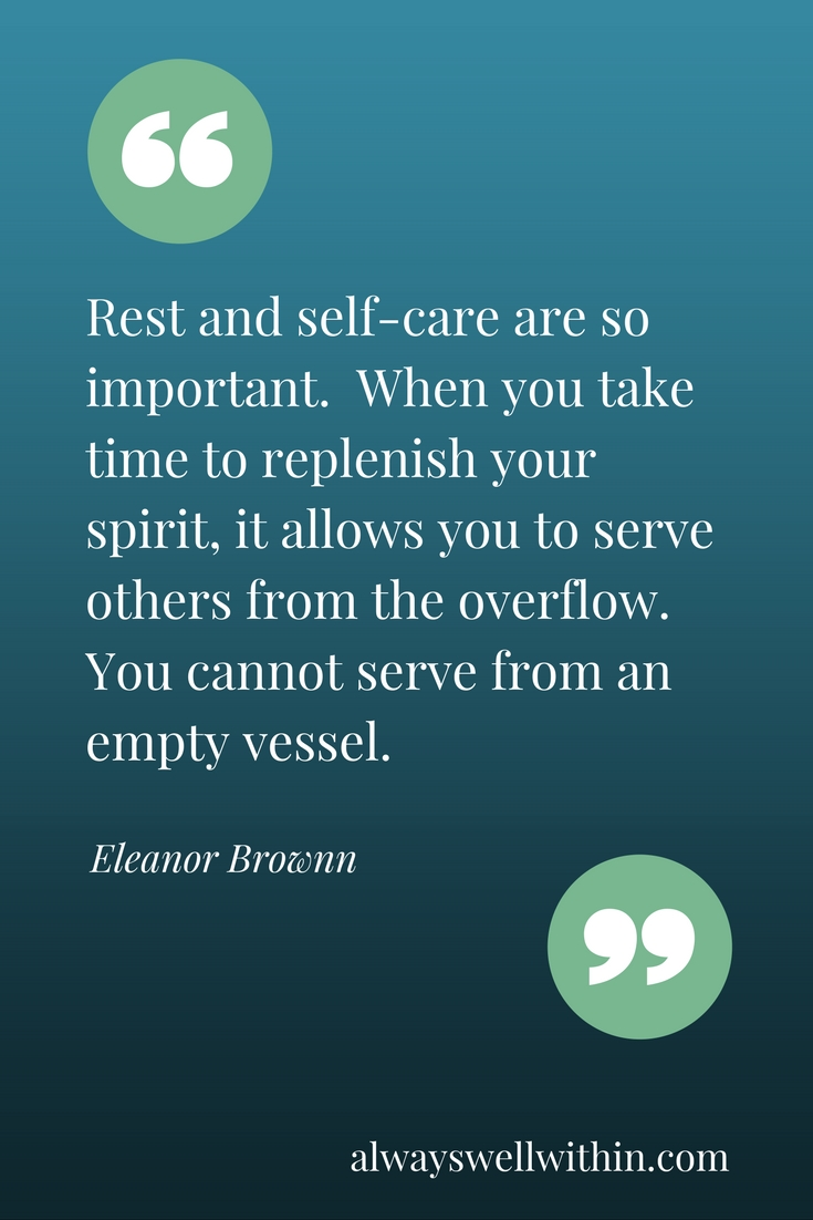 Because self-care is not a luxury, but a necessity.