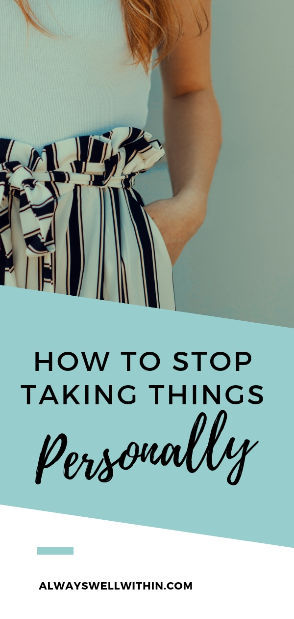 When you take things personally you constantly feel stuck in hurt, pain, and/or anger.  If you're tired of all the angst, check out this step-by-step guide, which will show you how to stop taking things personally. These ideas come from Don Miguel Ruiz, who wrote The Four Agreements, a powerful resource for living a brighter and better life. #emotionalhealing #fouragreements #stoptakingthingspersonally #howtonottakethingspersonally