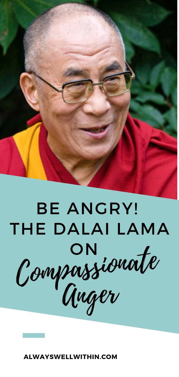 Be Angry The Dalai Lama On Compassionate Anger Always Well Within