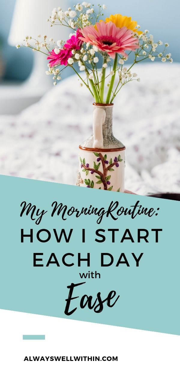 A healthy, before work, morning routine, will nourish your body, reduce stress + anxiety, and improve your mental clarity for the rest of the day. Your  self-care morning routine will make you more productive too. It may seem counter-intuitive, when you feel pressured to run out the door, but try it out. You'll get so many benefits from making time for a daily morning routine.  Need ideas for your morning routine? Take a peek at mine + steal away! #morningroutine #selfcare #selfcareroutine #wellness #sandrapawula