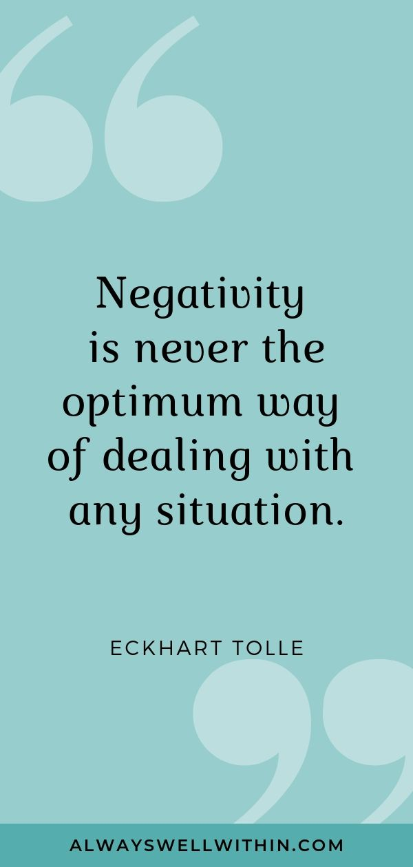 """Negativity is never the optimum way of dealing with any situation."" - Eckhart Tolle #spiritualquotes #deepquotes #inspiringquotes #eckharttolle"