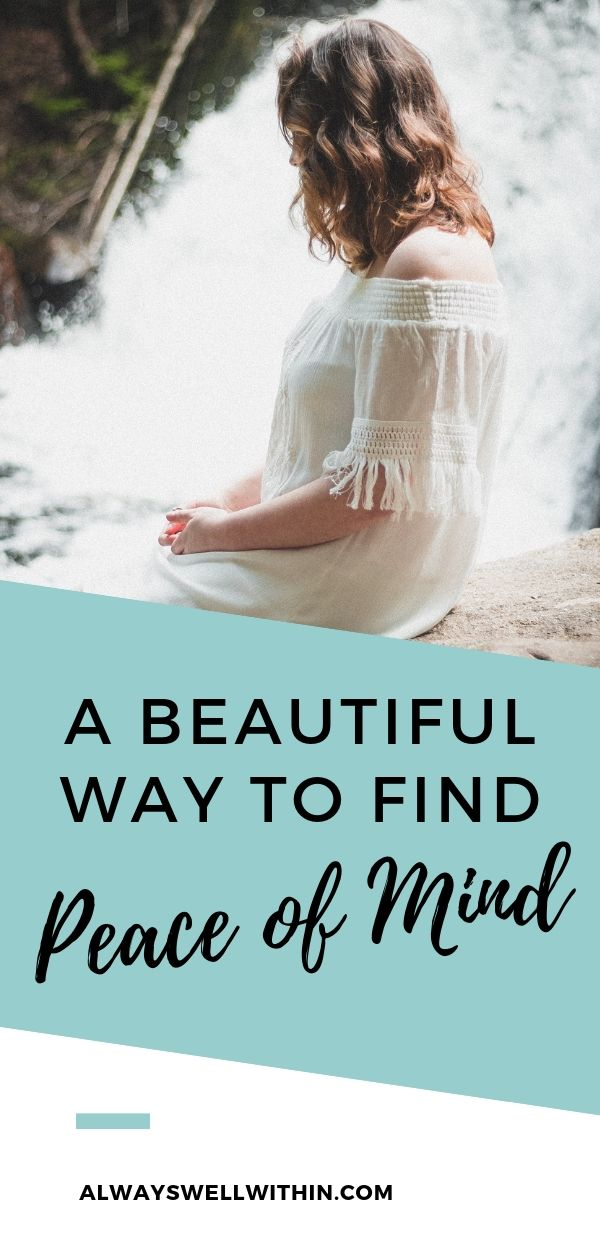 Do you ever wonder how to achieve inner peace? In this piece, I offer inspiration to help you let go of troublesome thoughts and emotions + move closer to finding peace of mind. Inner peace can be achieved by learning to sit quietly, while being mindful of the comings and goings in your mind. It doesn't have to be a formal or rigid meditation, but simply the willingness to be with your self. Click through for inspiration. #mindfulness #spirituality #wellbeing #personalgrowth #mentalhealth