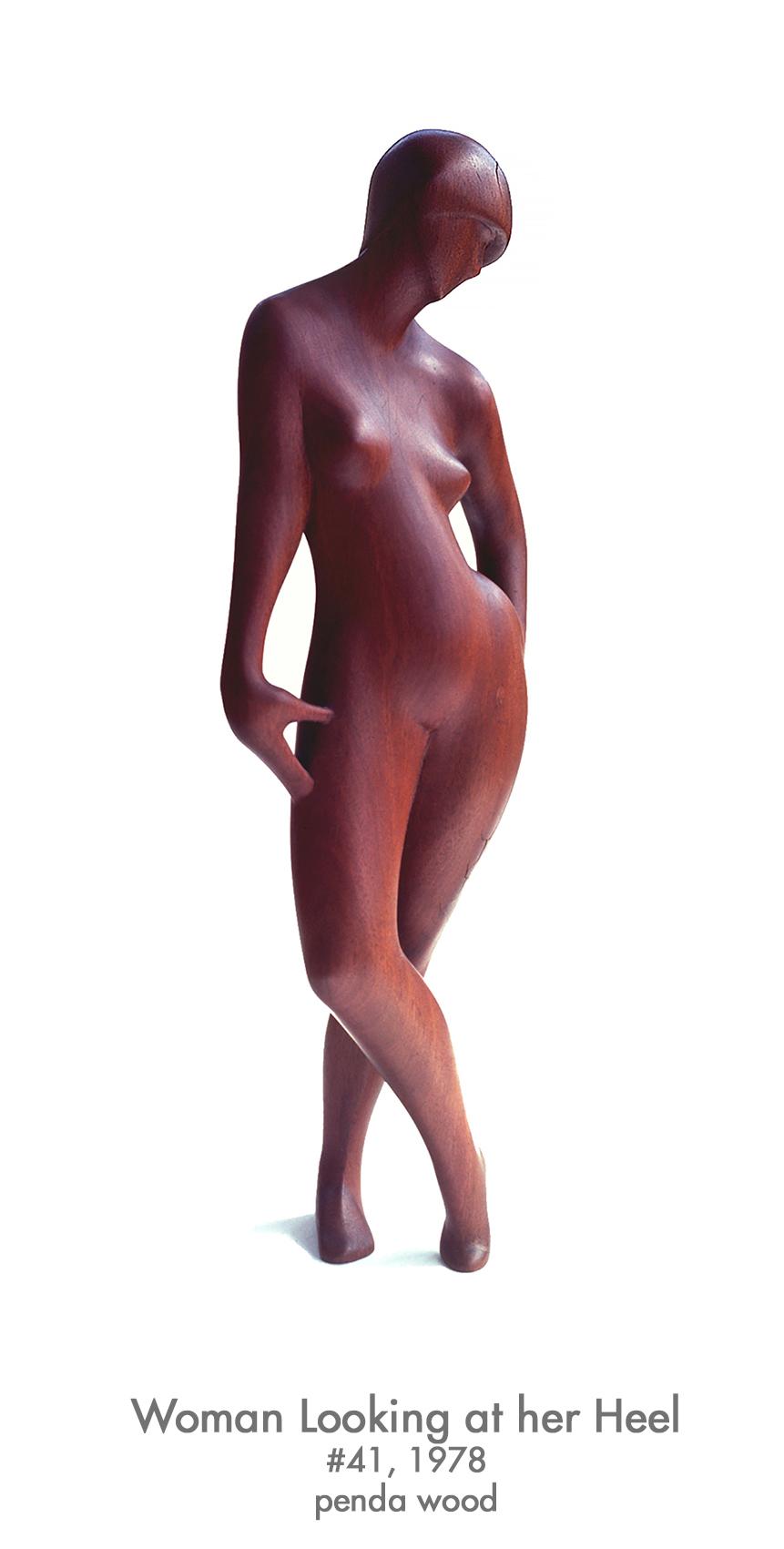 Woman Looking at her Heel