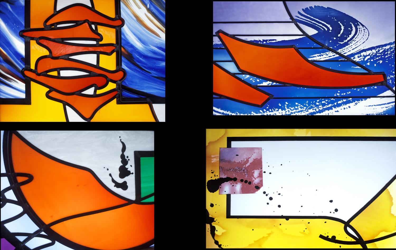 Details of glass embelishments.