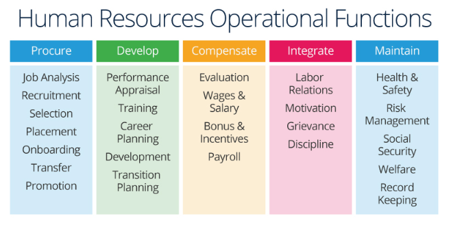 HR Operational Functions Infographic.