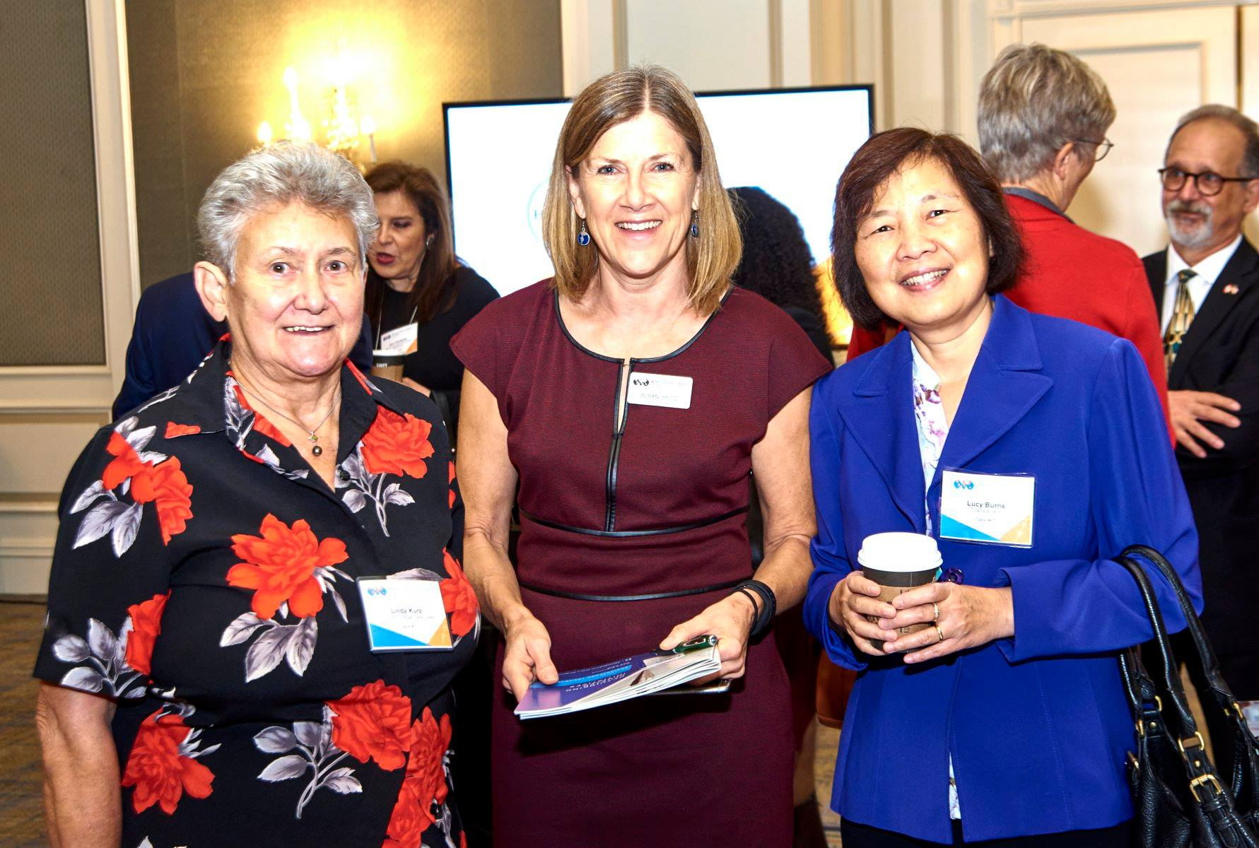 Left to right: Linda Kurz - SLSSC Board of directors, Susan Spitz - WOrld Trade Center St. Louis, lucy burns - Cicadea biospace, llc.