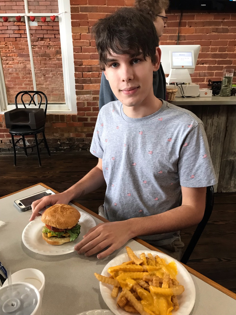The Buffalo Cafe was even recommended by the park rangers at the Plains High School as the place to go for lunch. I admit - it was a very yummy bacon cheeseburger - cheese fries not so much me - but Aidan loved them.