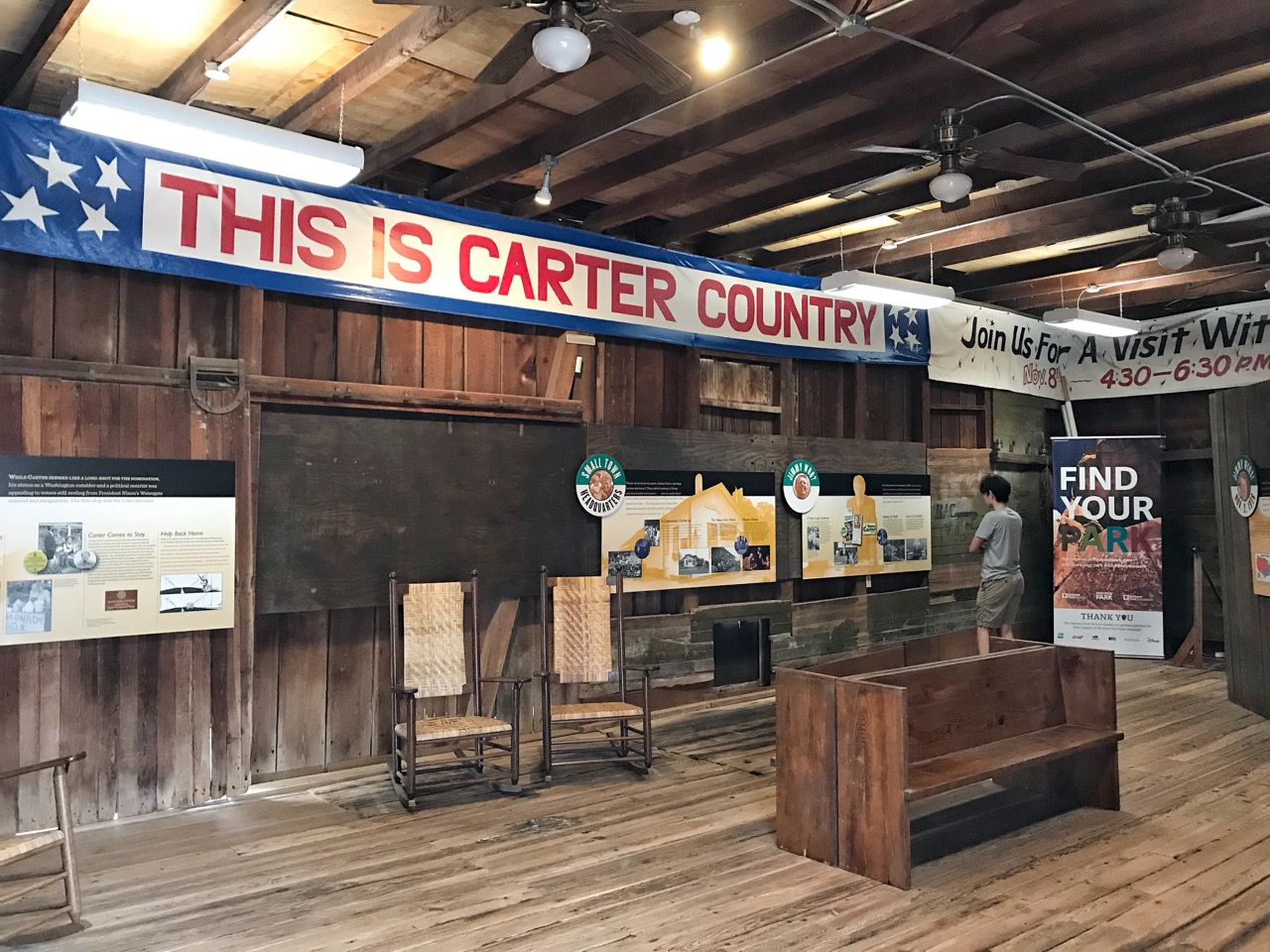 Inside the Plains Depot is a very informative exhibit on Jimmy Carter's 1976 presidential campaign