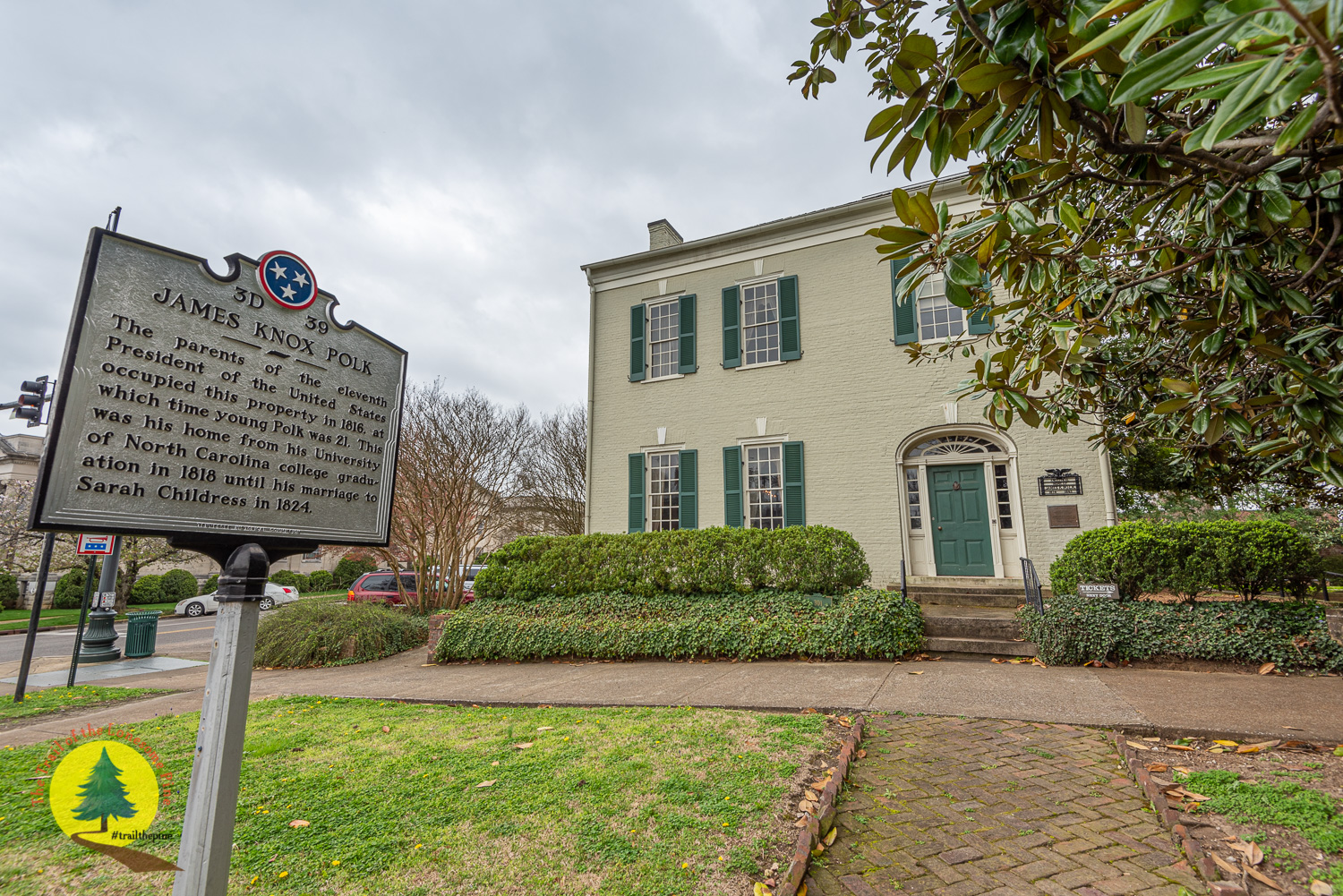 President James K. Polk Home and Museum, located in Columbia, Tennessee