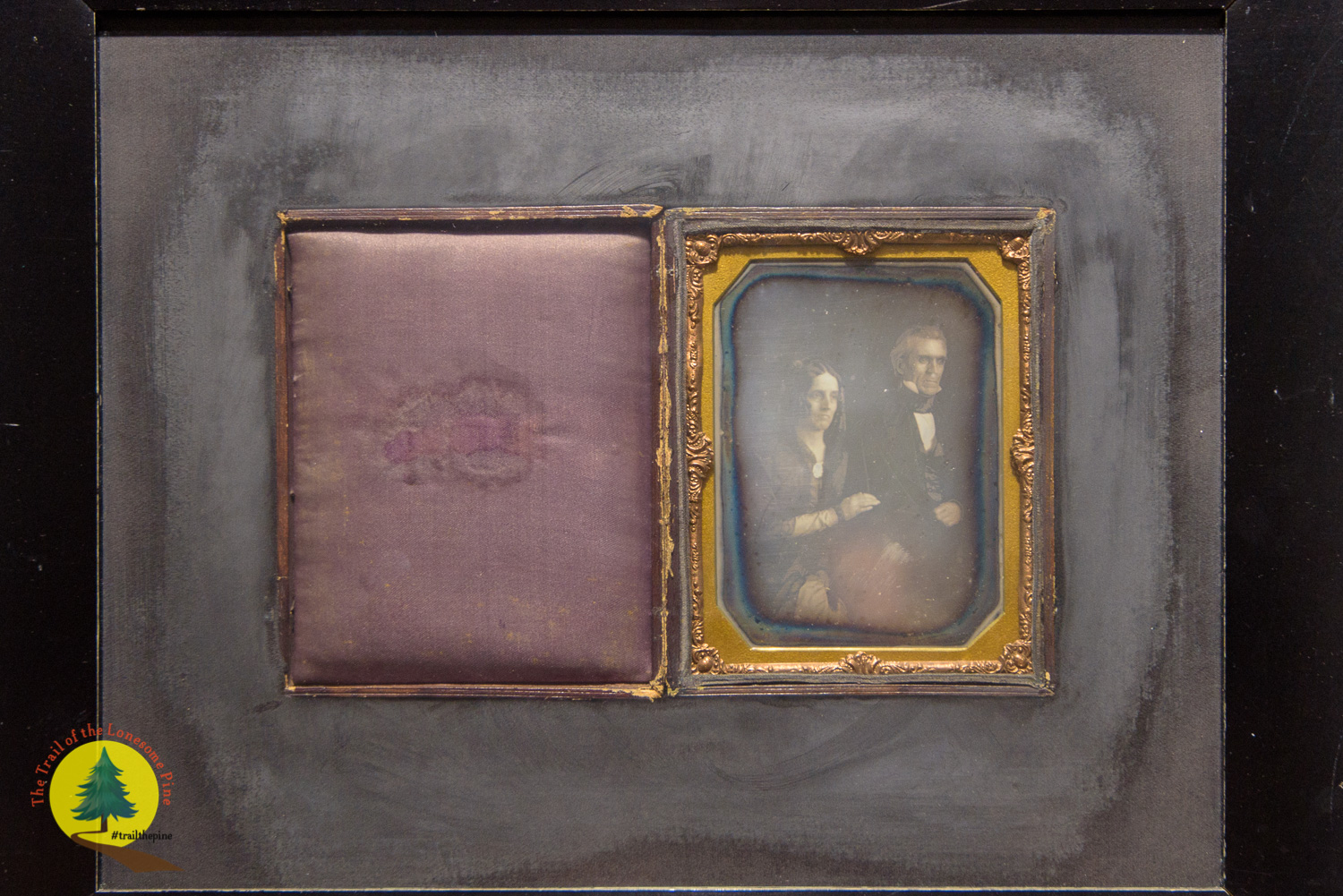 Original daguerreotype of James Polk and his wife, Sarah